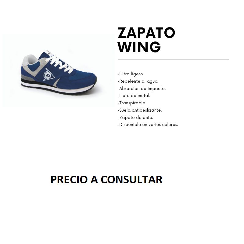 ZAPATO WING AZUL